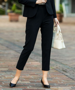 any SiS S 【セットアップ対応】セレモニーダブルクロス テーパード パンツ ブラック
