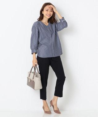 any SiS S 【洗える】レディテーパード パンツ ネイビー系