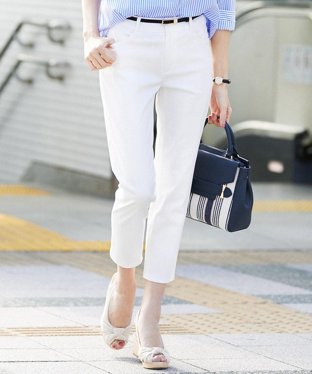 any SiS S 【汚れにくい】エバービューティー テーパード パンツ ホワイト系