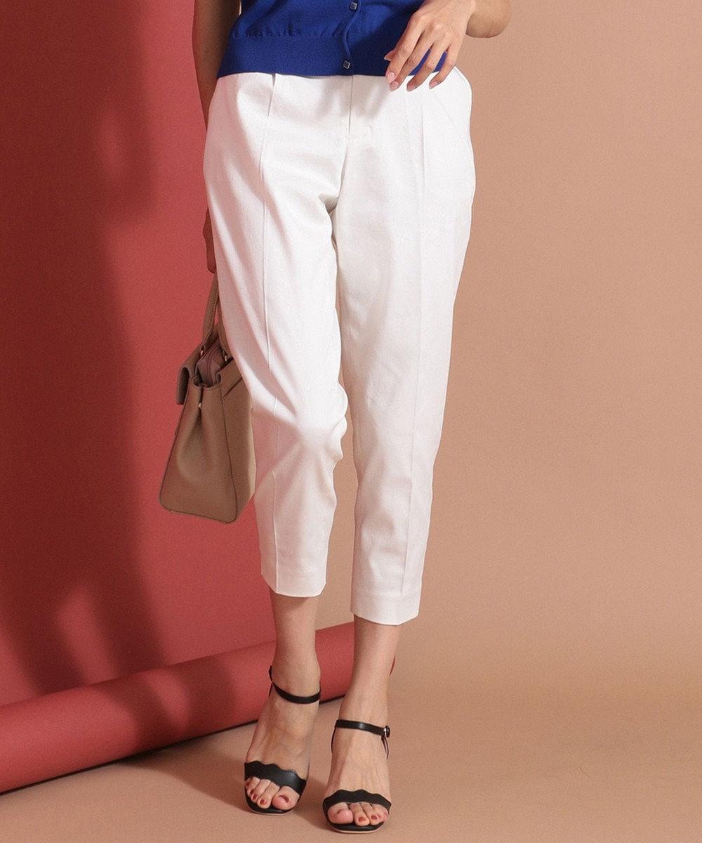 any SiS 【撥水・UVケア】クールタッチテーパードパンツ ホワイト系