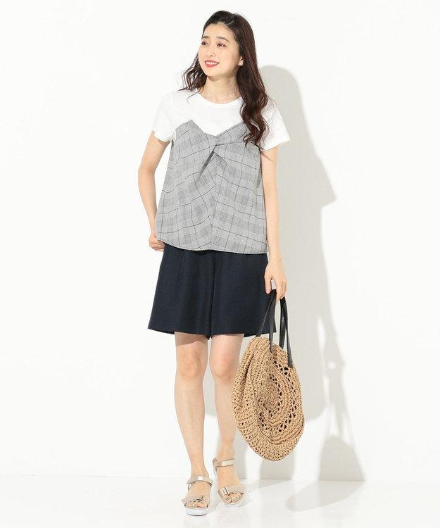 any SiS L 【洗える】バックルポイント ショート パンツ