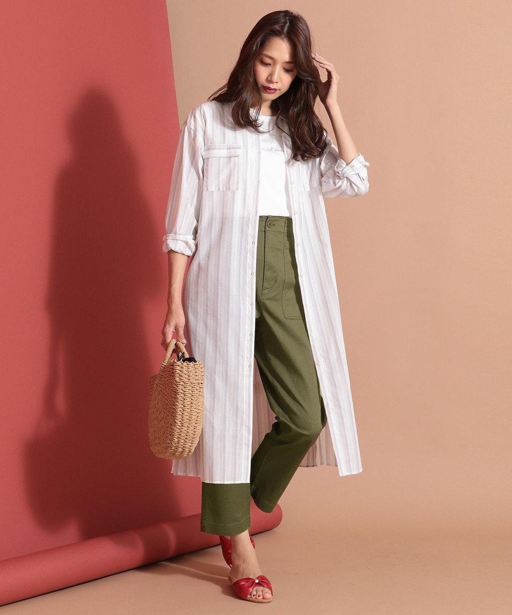 any SiS 【洗える】ベイカー パンツ カーキ系