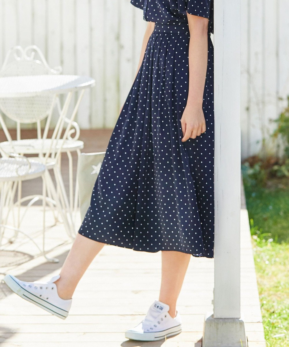 any SiS 【洗える】L'aube デシンスタープリント スカーチョ ネイビー系5