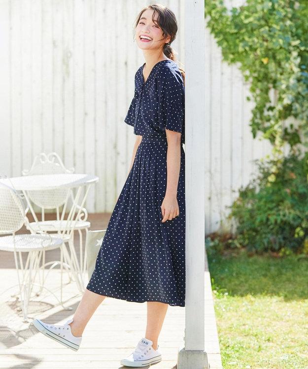 any SiS 【洗える】L'aube デシンスタープリント スカーチョ