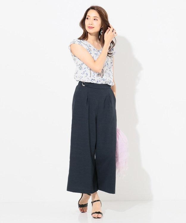 any SiS 【泉里香さん着用】リネンライクブライトクロス ワイドパンツ