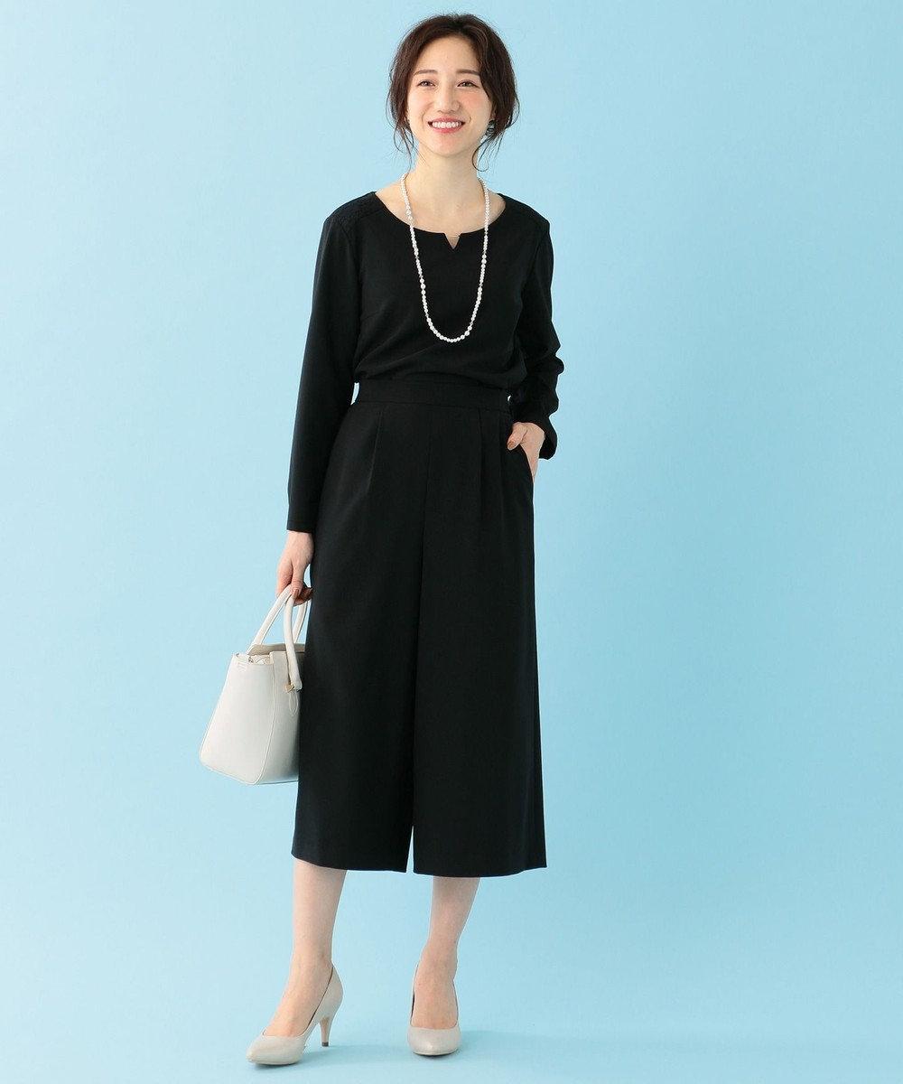 any SiS 【セットアップ対応】セレモニーダブルクロス ワイドパンツ ブラック系