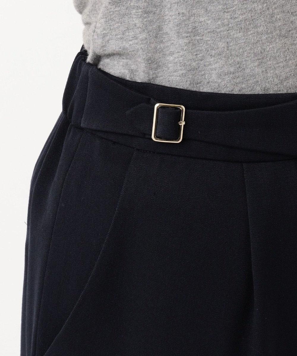 any SiS L 【洗える】バックルポイントテーパード パンツ ネイビー系