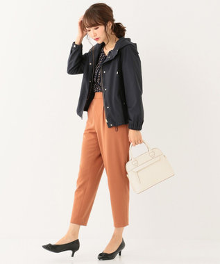 any SiS L 【洗える】バックルポイントテーパード パンツ キャメル系