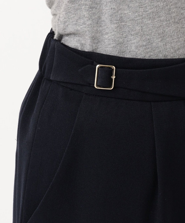 any SiS L 【洗える】バックルポイントテーパード パンツ