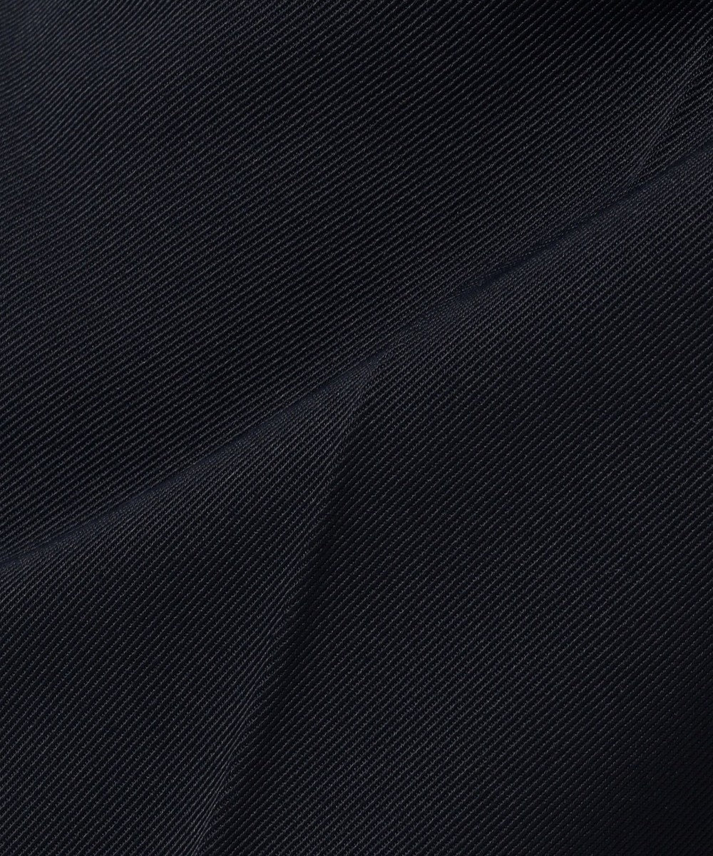 any SiS 【洗える】ハイウエストタック ワイド パンツ ネイビー系