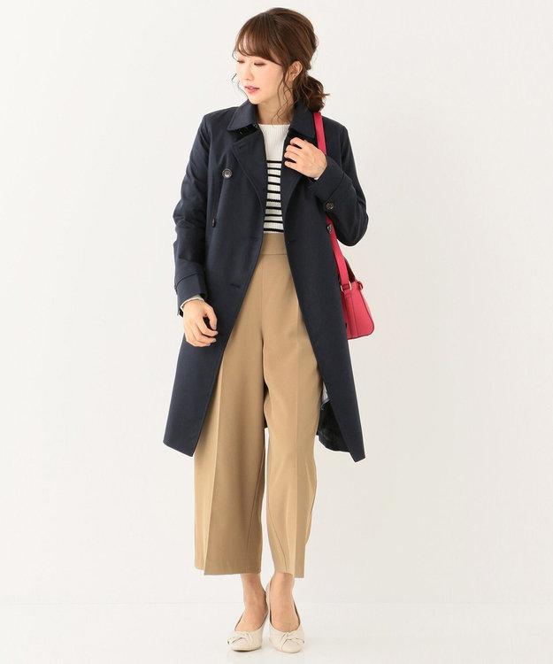 any SiS 【洗える】ハイウエストタック ワイド パンツ