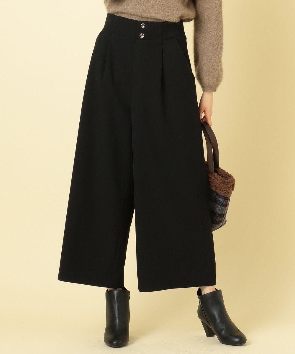 any SiS 【2WAY】サスペンダー付スプリング ワイドパンツ ブラック