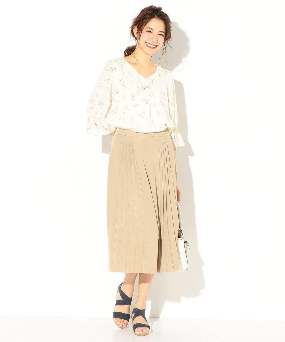 any SiS 【洗える】エレガントプリーツ ガウチョパンツ ブラウン系