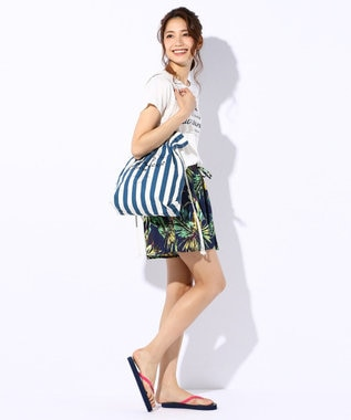 any SiS 【洗える】パターントロピカルパターン ショートパンツ ネイビー系