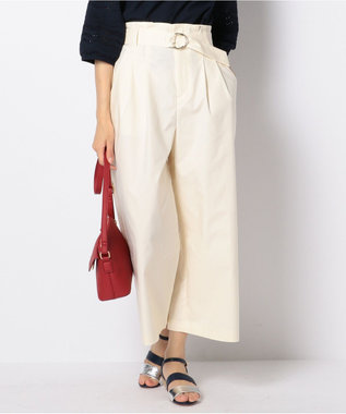 any SiS 【洗える】クリアタッチクロス ワイドパンツ アイボリー系