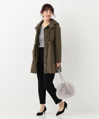 any SiS 【洗える・裏起毛】イージーウォームテーパード パンツ ブラック系