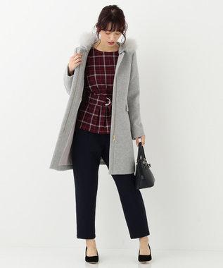 any SiS 【洗える・裏起毛】イージーウォームテーパード パンツ ネイビー系