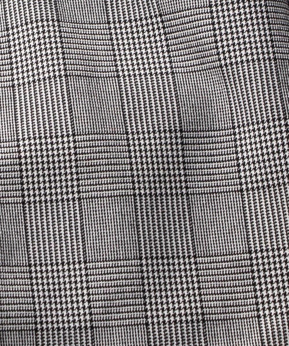 自由区 L 【マガジン掲載】2WAYストレッチ 起毛テーパードパンツ(検索番号Q85) グレー系チェック
