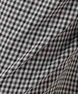 自由区 L 【マガジン掲載】2WAYストレッチ 起毛テーパードパンツ(検索番号Q85) ブラック系チェック