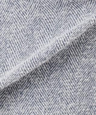 組曲 L COMO ヘリンボーンツイード ベルト付きワイドパンツ ブルー系5