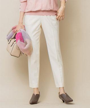 組曲 S 【吸湿発熱性】T/Rストレッチ サーモ テーパードパンツ ホワイト系