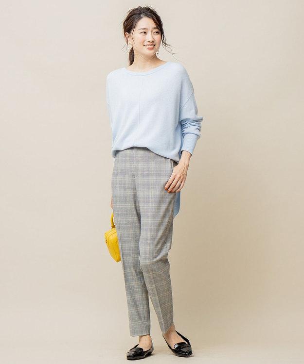 組曲 L 【吸湿発熱性】T/Rストレッチ サーモ テーパードパンツ