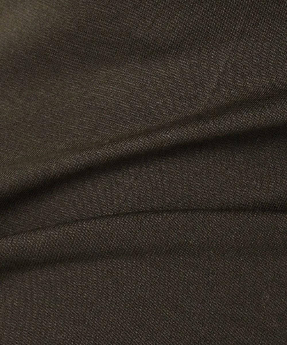 組曲 【洗える】ビスコースストレッチポンチ ストレッチパンツ ダークブラウン系
