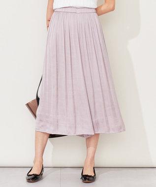 組曲 L 【人気商品】ヴィンテージサテンギャザー パンツ ピンク系
