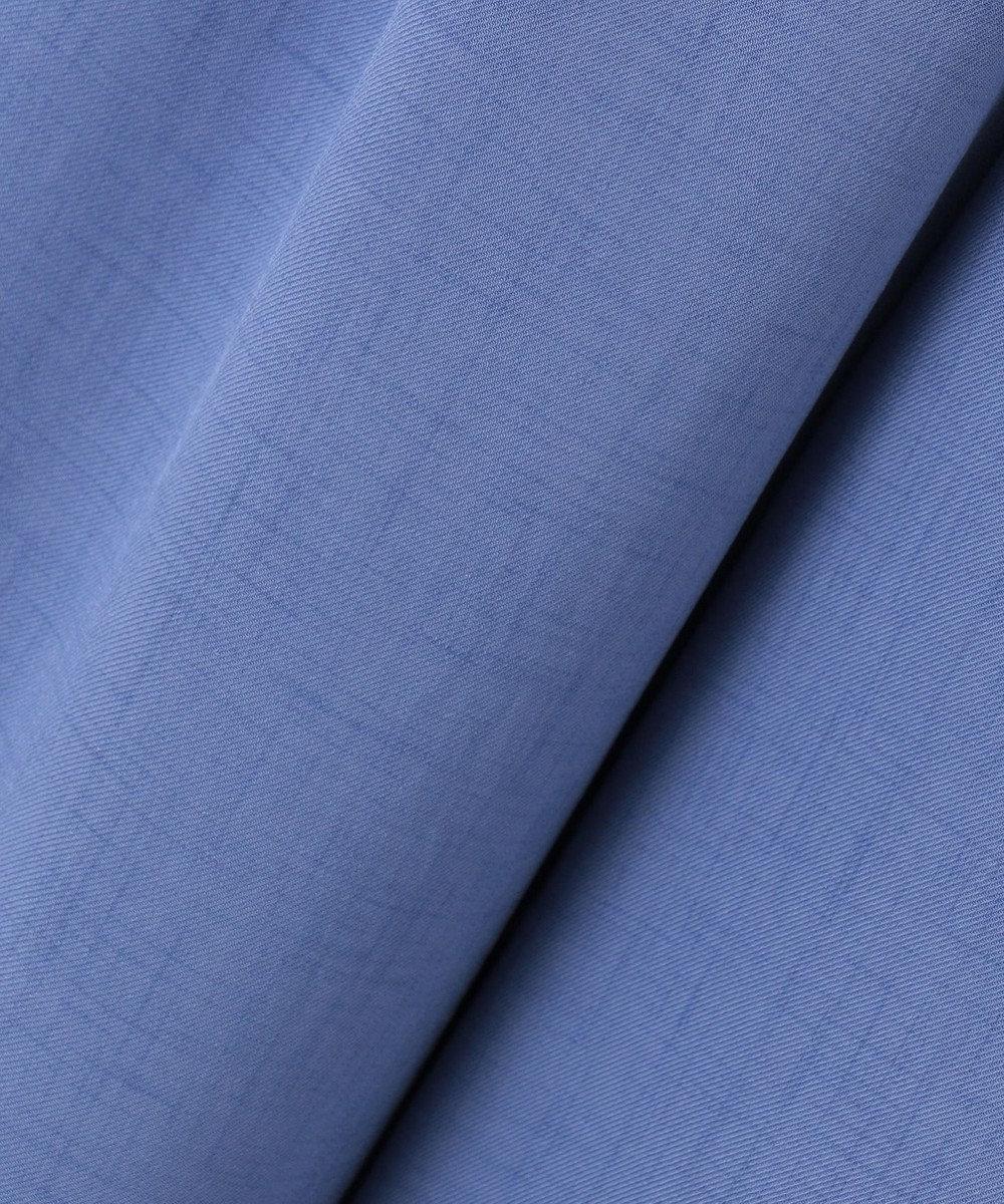 組曲 S 【セットアップ対応】リネンライク  セミワイドパンツ ブルー系