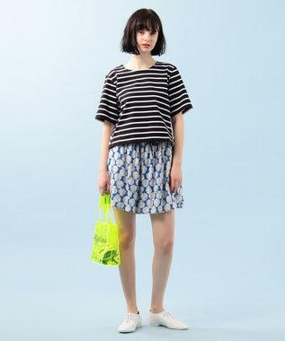 組曲 【Rythme KUMIKYOKU】シェルプリント ショートパンツ ブルー系5