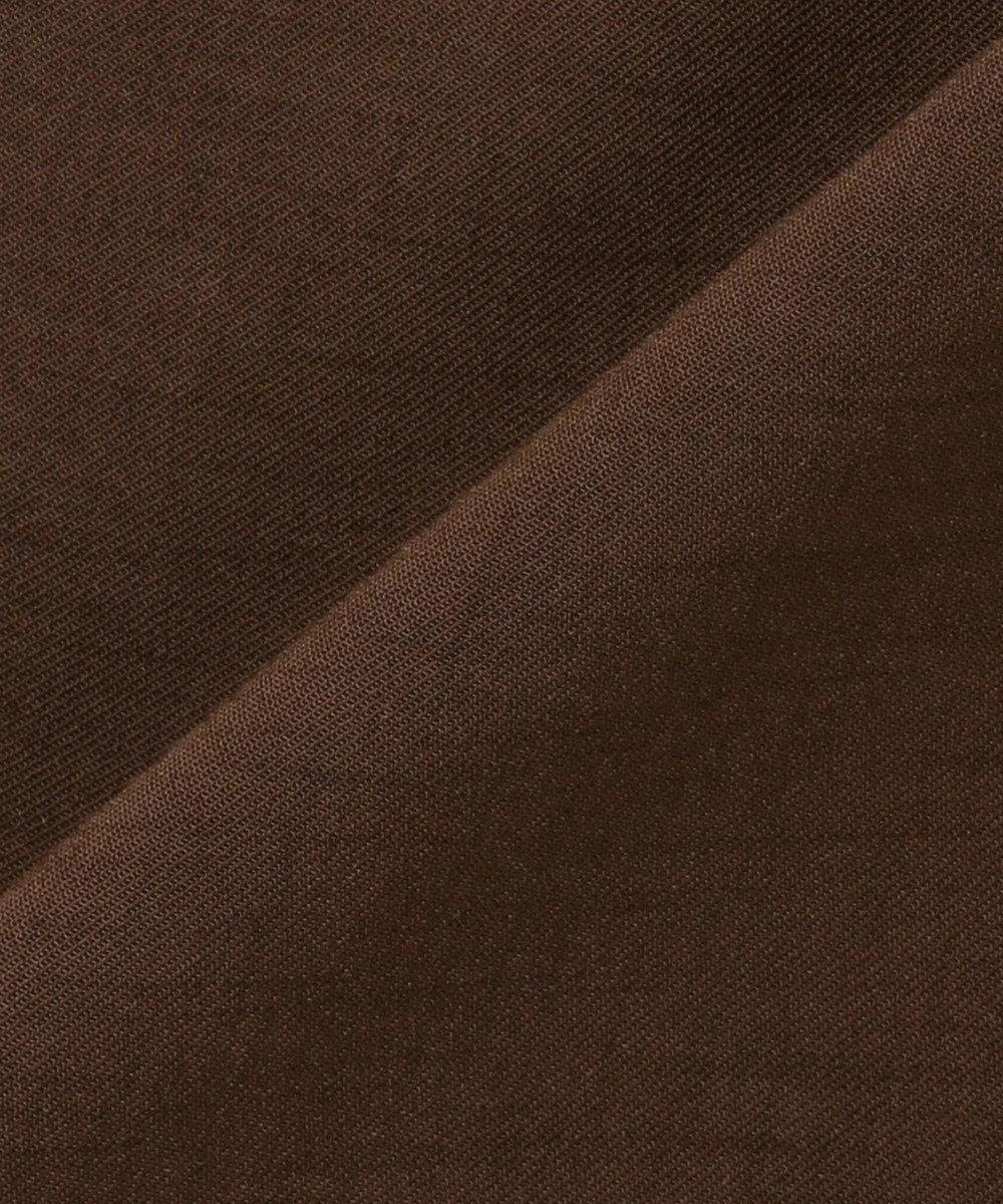 組曲 【イージーケア】リネンライク セミワイドパンツ ブラウン系