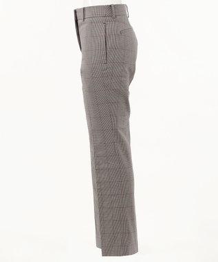 CK CALVIN KLEIN WOMEN 【千鳥×チェック柄】コットンリネンチェック パンツ レッド系3