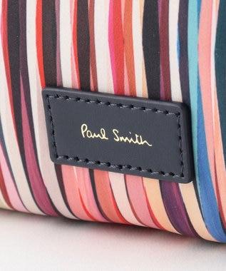 Paul Smith クロスオーバーストライプ ポーチ(ラージサイズ) アイボリー系9