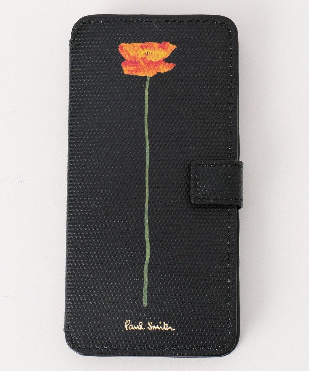 Paul Smith フラワープリント iphone6/6Sケース ブラック系