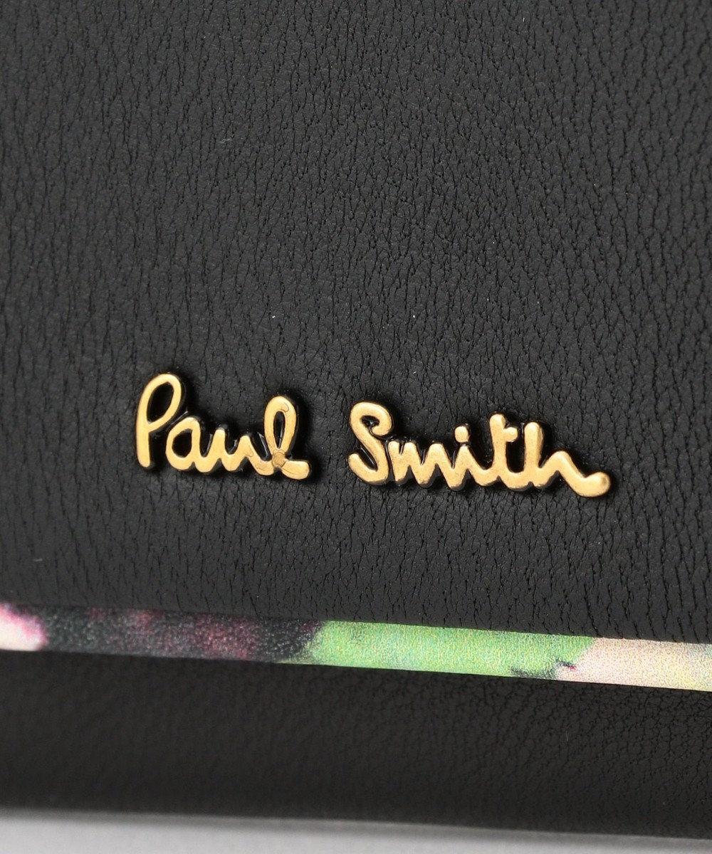 Paul Smith ヘイジーパンジートリム カードケース ブラック系
