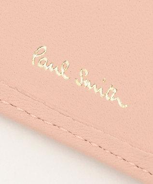 Paul Smith クロスオーバーストライプ キーケース ピンク系