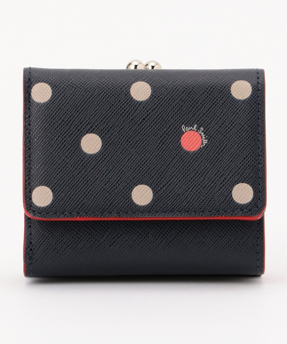 Paul Smith ポルカドット ミニ財布(2つ折り) ネイビー系