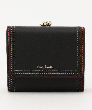 Paul Smith ストライプステッチ ミニ財布 ブラック系