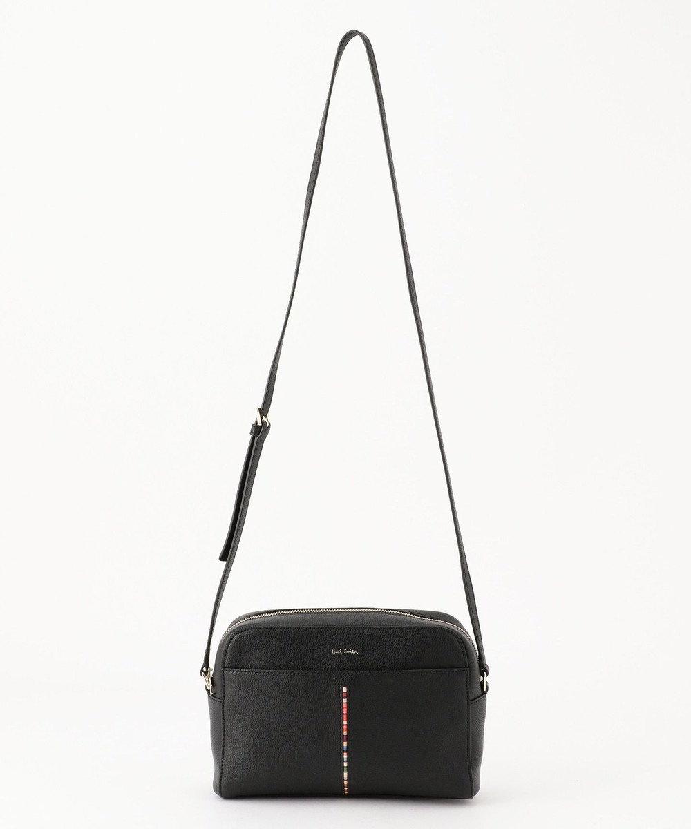Paul Smith インセットクロスオーバーストライプ ショルダーバッグ ブラック系