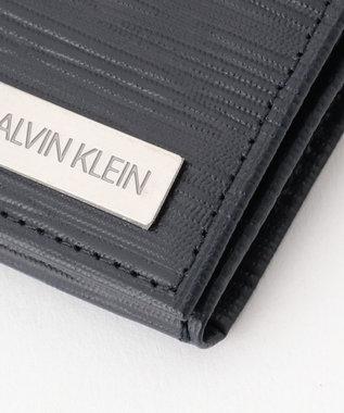CK CALVIN KLEIN MEN 【大人気】タットII 長財布 ネイビー系