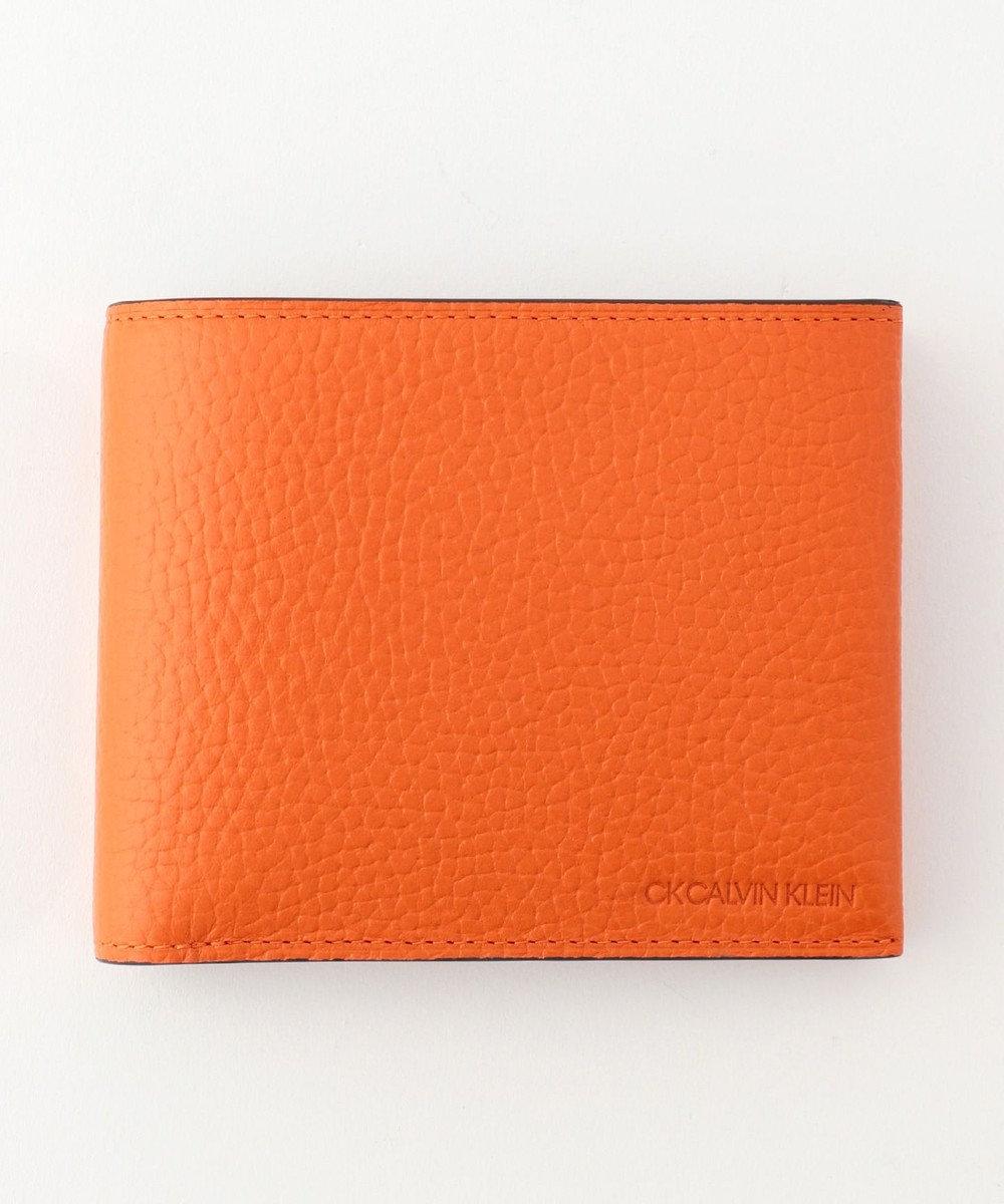 CK CALVIN KLEIN MEN 【大人気】ラップ 財布 (二つ折) オレンジ系