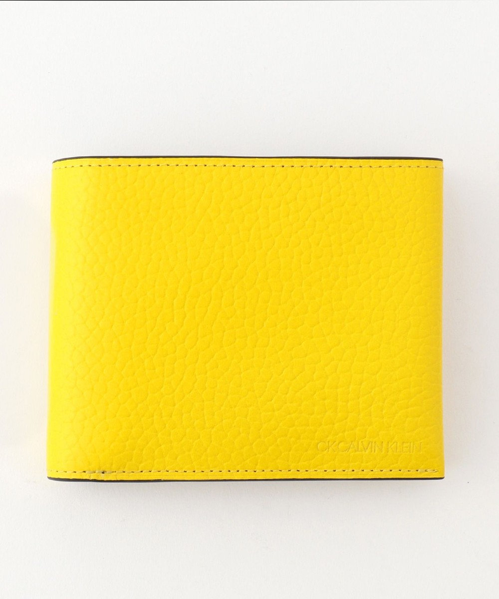CK CALVIN KLEIN MEN 【大人気】ラップ 財布 (二つ折) イエロー系