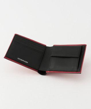 CK CALVIN KLEIN MEN 【大人気】ラップ 財布 (二つ折) レッド系