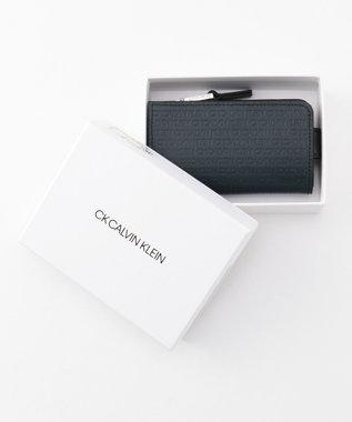CK CALVIN KLEIN MEN リピート キーケース 小銭入れ兼用 ネイビー系