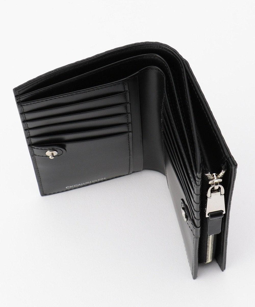 CK CALVIN KLEIN MEN リピート セミ 長財布 (二つ折り) ブラック系