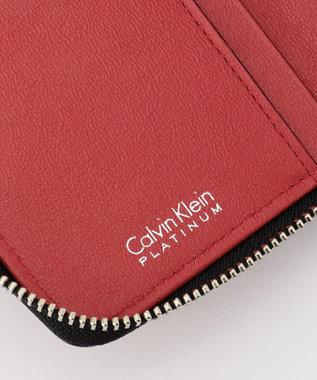CK CALVIN KLEIN MEN ズパイン ラウンドファスナー 財布 レッド系