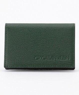 CK CALVIN KLEIN MEN 【大人気】ロック 名刺入れ グリーン系