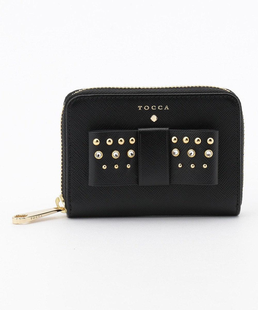 TOCCA 【WEB限定カラー有】RIBBON STUDS SMALL PURSE 財布 ブラック系