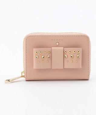 TOCCA 【WEB限定カラー有】RIBBON STUDS SMALL PURSE 財布 [限定]ピンク系