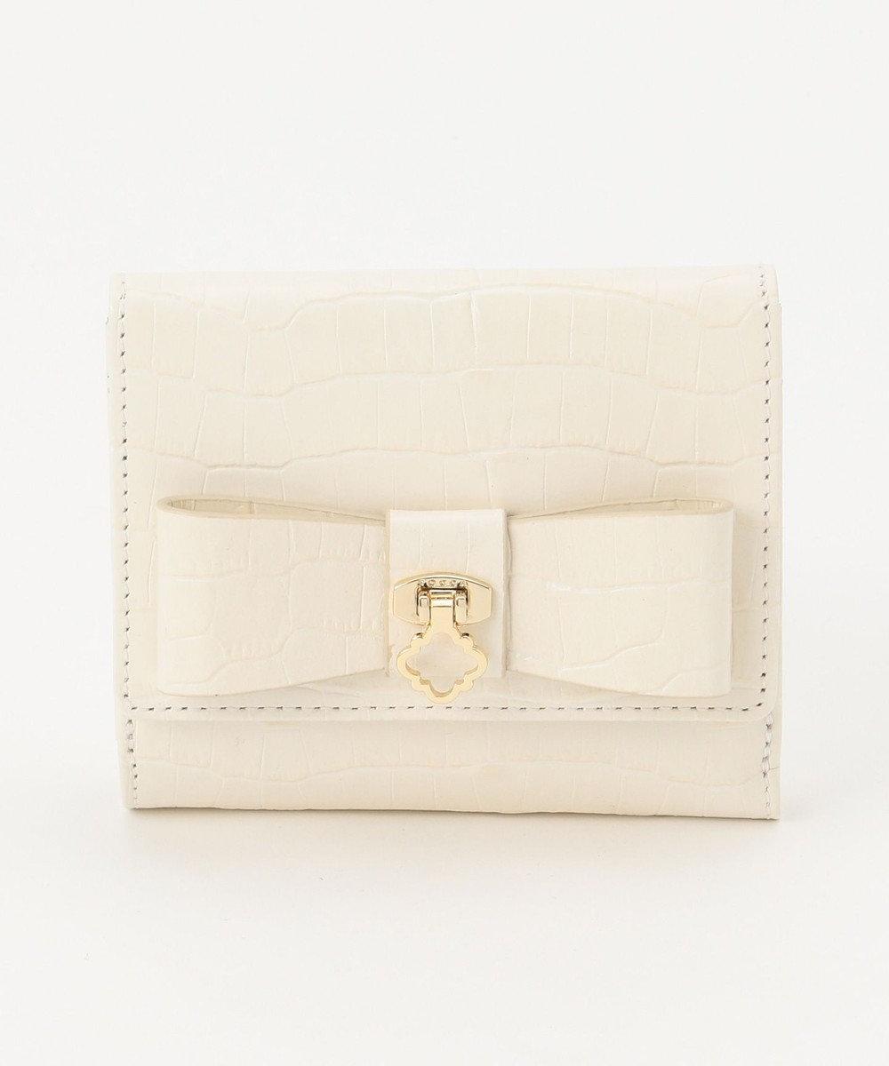 TOCCA 【BAG COLLECTION】CROC RIBBON SMALL PURSE 財布 アイボリー系